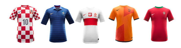 Neue Nike-Trikots fr EM-Teams